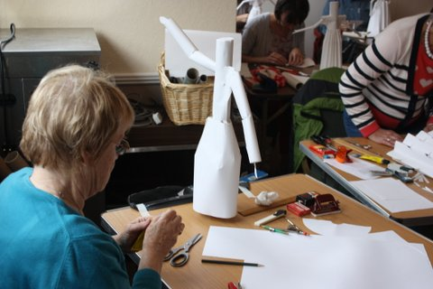 Marchington Church Paper Sculpture Workshops in Staffordshire